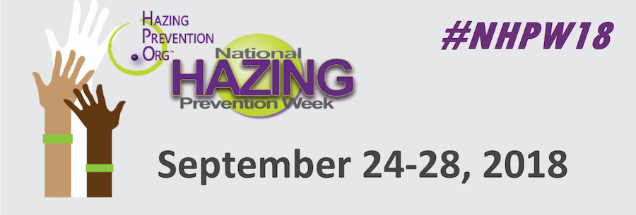 National Hazing Prevention Week banner