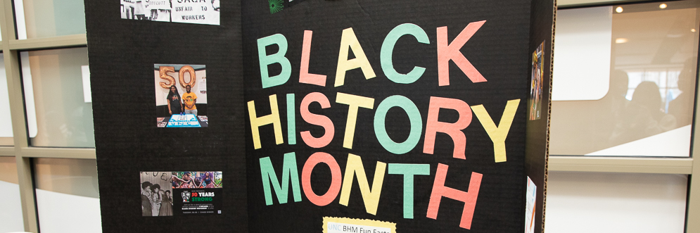 Black History Month celebration in West Lounge