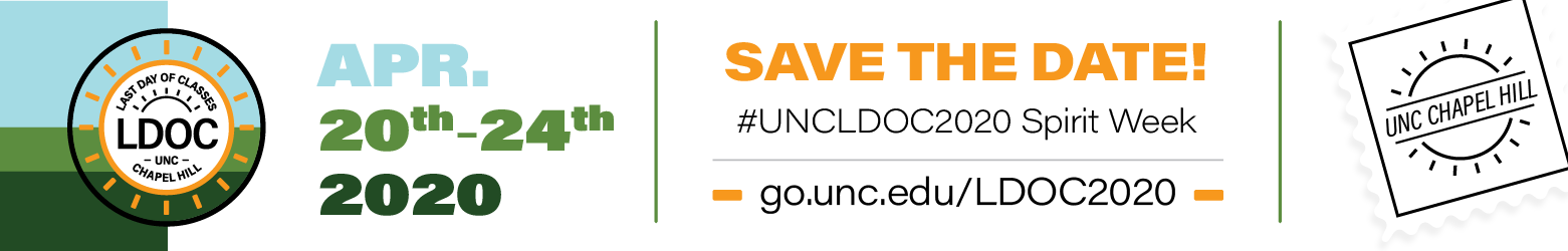 Save the Date  April 20-24 2020 for #UNCLDOC2020 Spirit Week