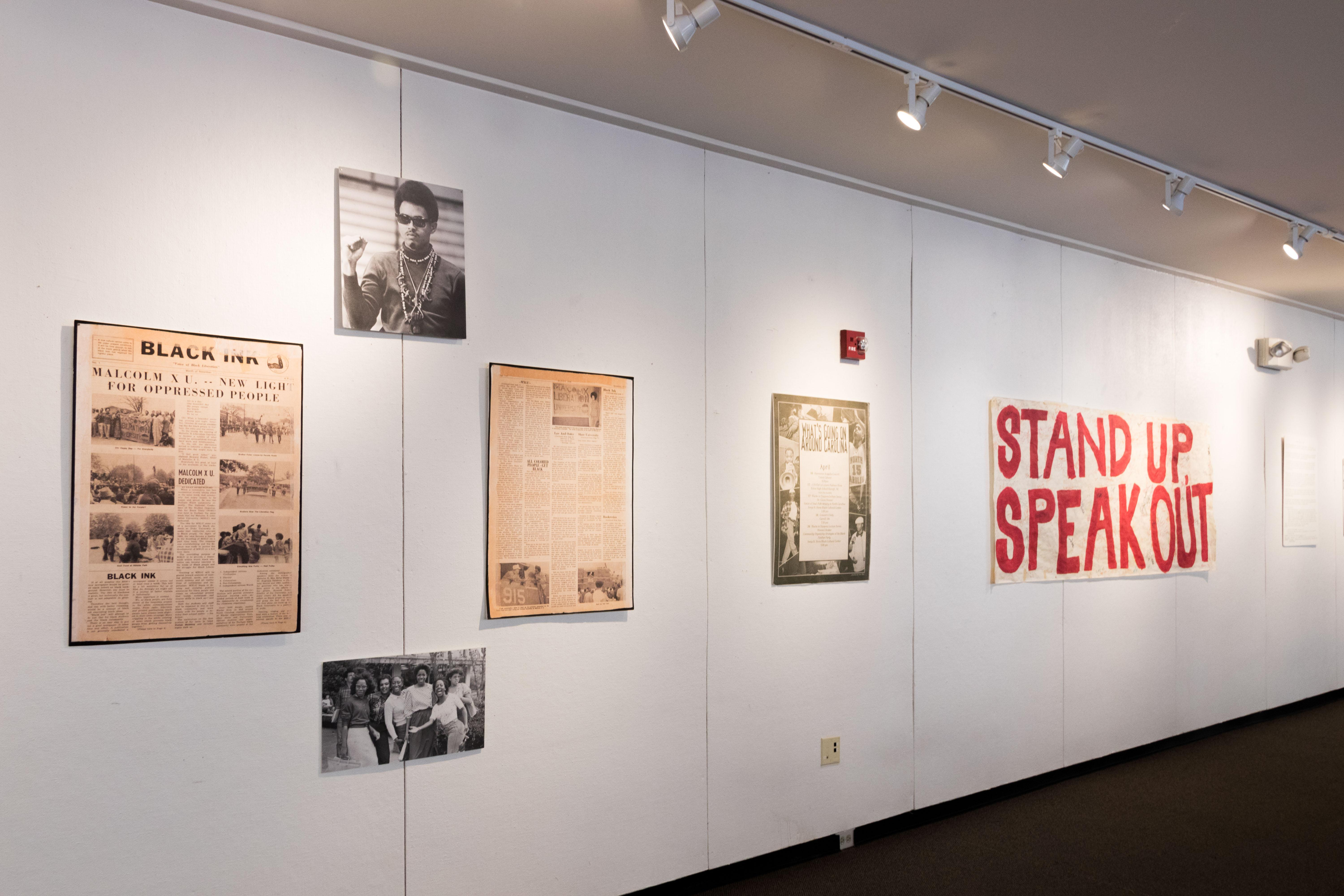Black History Month Display in the Union Art Gallery