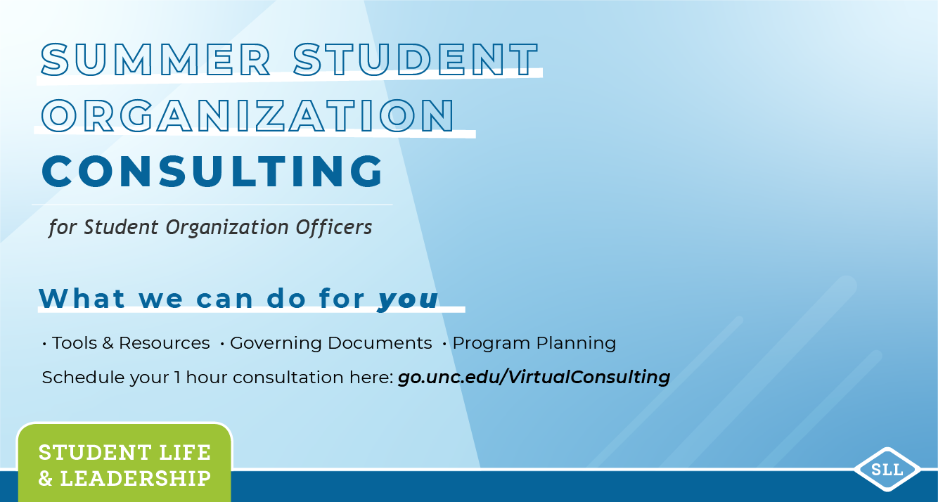 Summer Student Organization Consulting Sessions