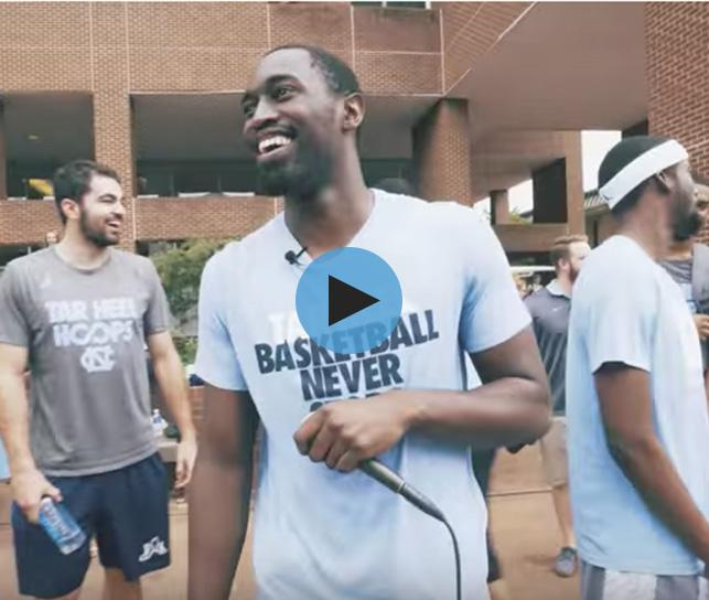 Jumpman and UNC Basketball in the Pit