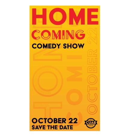 Flyer for UNC's Homecoming Comedy show